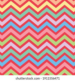 colorful zigzag patterns vector on red background