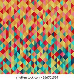 Colorfull diamond tiles seamless vector pattern.