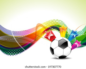Colorfull Football Background With Stars Vector Illustration