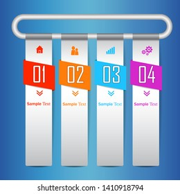 Colorfull infographic design vector and marketing icons. modern business infographics template for website, grafic. Red, orange, blue, violet  web design tabs. Infographic banners. vector illustration