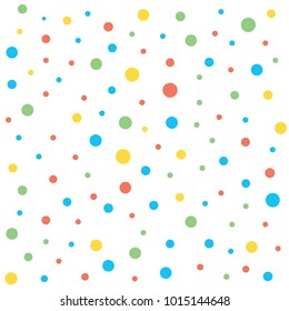 colorfull polkadot background seamless pattern