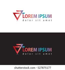 Colorfull triangle logo design
