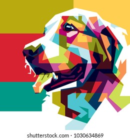 Colorfully Dog Wallpaper