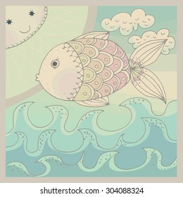 colorfully fish background
