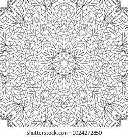 coloring adult page black and white pattern with tribal zentangle mandala tribal pattern for