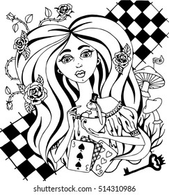 Alice In Wonderland Coloring Book - Coloring Home | 280x243