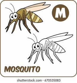 coloring animal. coloring mosquito