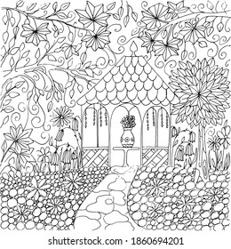 Adult Coloring Pages Summer Images Stock Photos Vectors Shutterstock