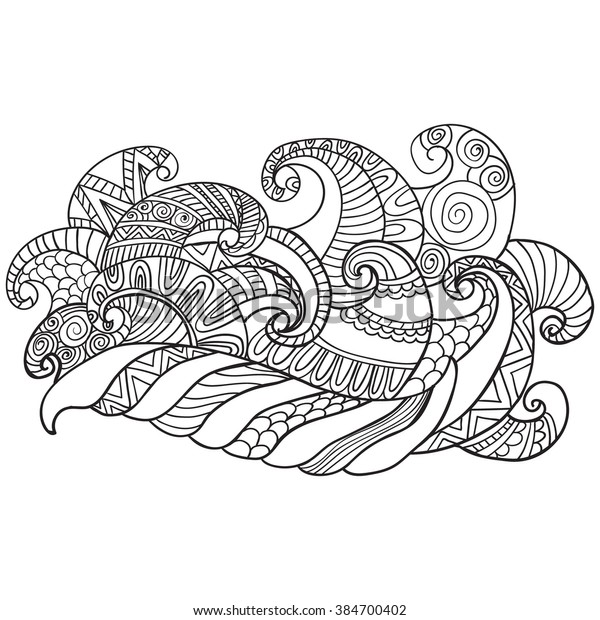 Coloring Book Adults Coloring Pagesvector Hand Stock ...
