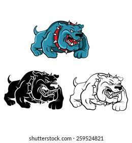 Coloring book Bull Dog cartoon character - vector illustration .EPS10