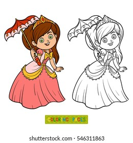 coloring book cartoon character princess 260nw