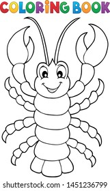 Coloring book cartoon lobster theme - eps10 vector illustration.