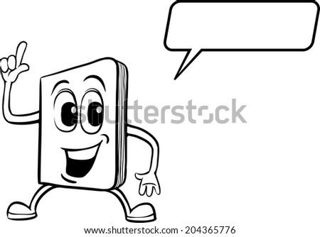 Coloring Book Cartoon Notebook Character Stock Vector (Royalty Free ...