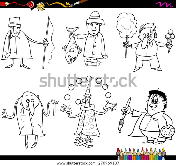 - Coloring Book Cartoon Vector Illustration Funny Stock Vector (Royalty Free)  270969137