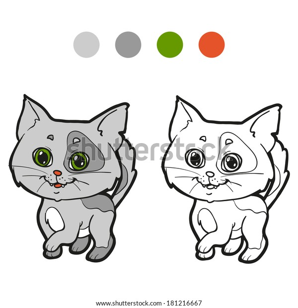 - Coloring Book Cat Stock Vector (Royalty Free) 181216667