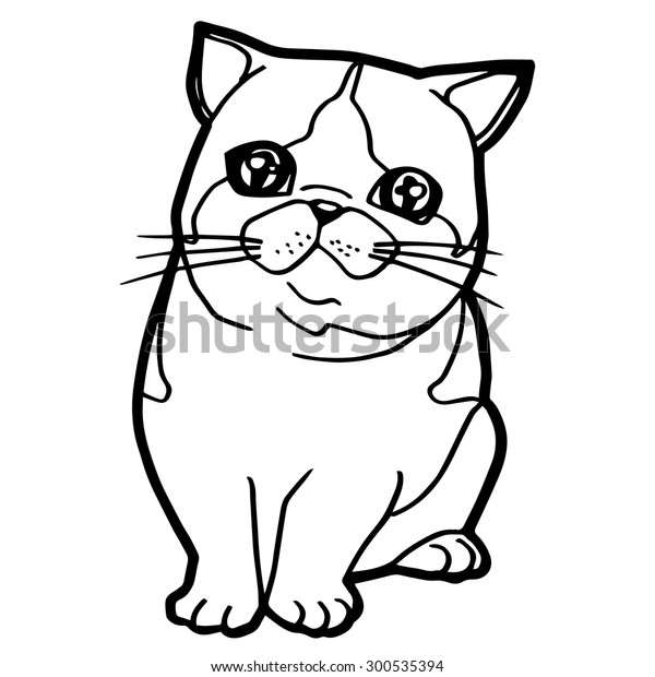 Coloring Book Cat Vector Stock Vector (Royalty Free) 300535394