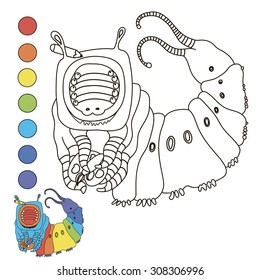 Coloring book (caterpillar)