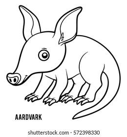 Coloring book for children, Aardvark