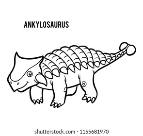 Coloring book for children, Ankylosaurus