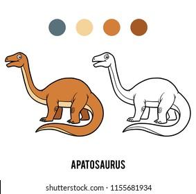 Coloring book for children, Apatosaurus