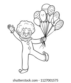 Coloring book for children, Clown