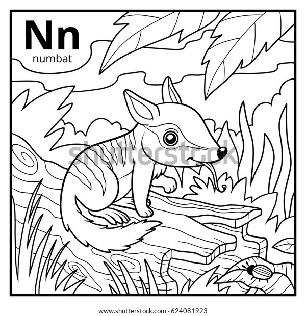 Coloring Book Children Colorless Alphabet Letter Stock ...