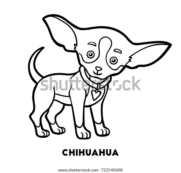 Coloring Book Children Dog Breeds Chihuahua Stock ...