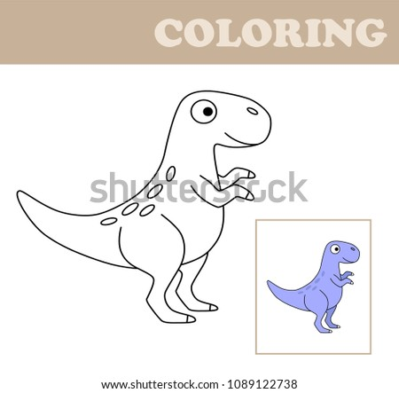 Image of: Worksheets Coloring Book For Children Drawing Kids Activity Children Activity Page Extinct Animal Dreamstimecom Coloring Book Children Drawing Kids Activity Stock Vector royalty