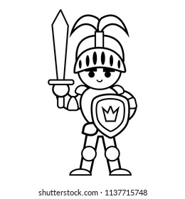 Knight Coloring Page Images, Stock Photos & Vectors ...