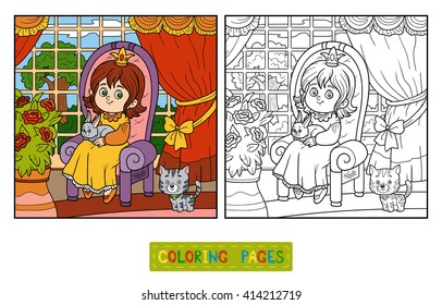 coloring book children little princess 260nw