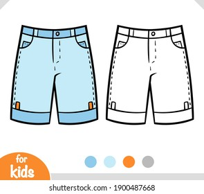 Coloring book for children, Mens shorts