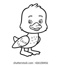 Duck Coloring Pages Images Stock Photos Vectors Shutterstock