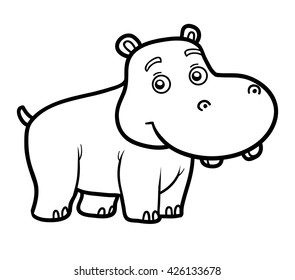 Hippo Colouring High Res Stock Images Shutterstock