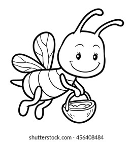 Bee Coloring High Res Stock Images Shutterstock