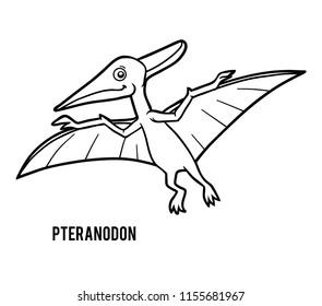 Coloring book for children, Pteranodon