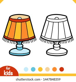Coloring book for children, Reading lamp with lampshade