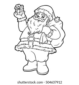 Santa Coloring Page Images, Stock Photos & Vectors ...