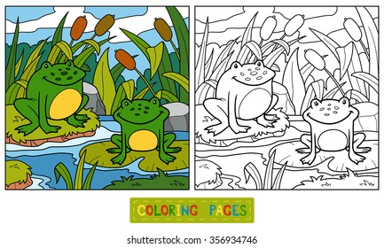 Free Printable Coloring Pages Of Frogs, Download Free Clip Art ... | 280x433