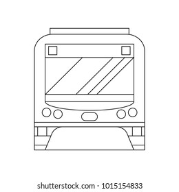 Coloring book for children. Vector illustration.  subway train, metro.  Moscow