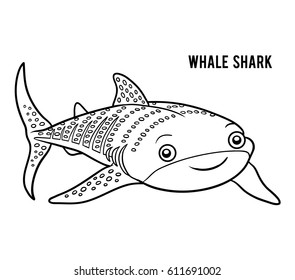 Coloring book for children, Whale shark
