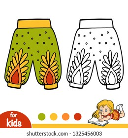 Coloring book for children, Womens harem pants