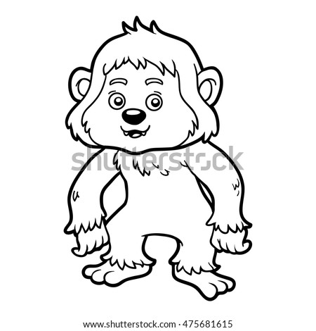 Coloring Book For Children Yeti