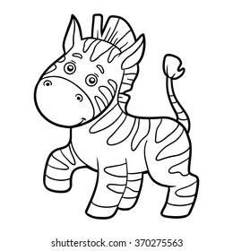 Cartoon Zebra Colouring Images Stock Photos Vectors Shutterstock