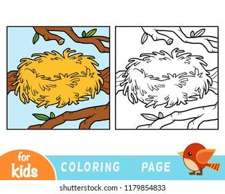 Coloring book for children, Zero. Empty nest