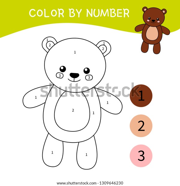 - Coloring Book Childrencartoon Teddy Bear Stock Vector (Royalty Free)  1309646230