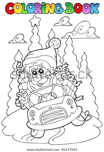 Coloring book Christmas topic 5 - vector illustration.