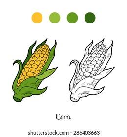 Coloring book (corn)