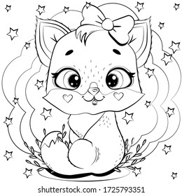 Cute Kitten Coloring Pages Images Stock Photos Vectors Shutterstock