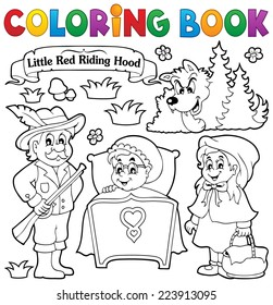 Coloring book fairy tale theme 1 - eps10 vector illustration.