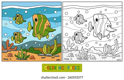 Coloring book (family fish)